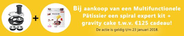 Spiral Expert en Gravity Cake Kit bij Magimix Pâtissier