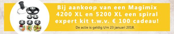Spiral Expert kit bij Magimix 4200 XL en 5200 XL