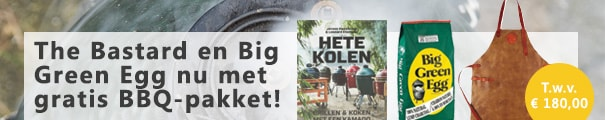 productbanner Big Green Egg en The Bastard bbq-actie