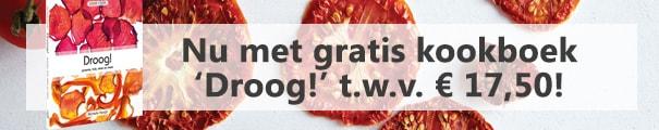 productbanner gratis kookboek Droog!