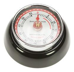 Zassenhaus Timer Speed kookwekker 7 cm metaal zwart