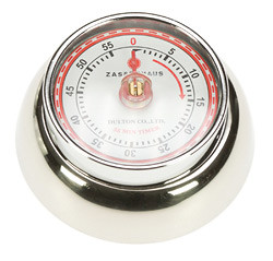 Zassenhaus Timer Speed kookwekker 7 cm metaal glans