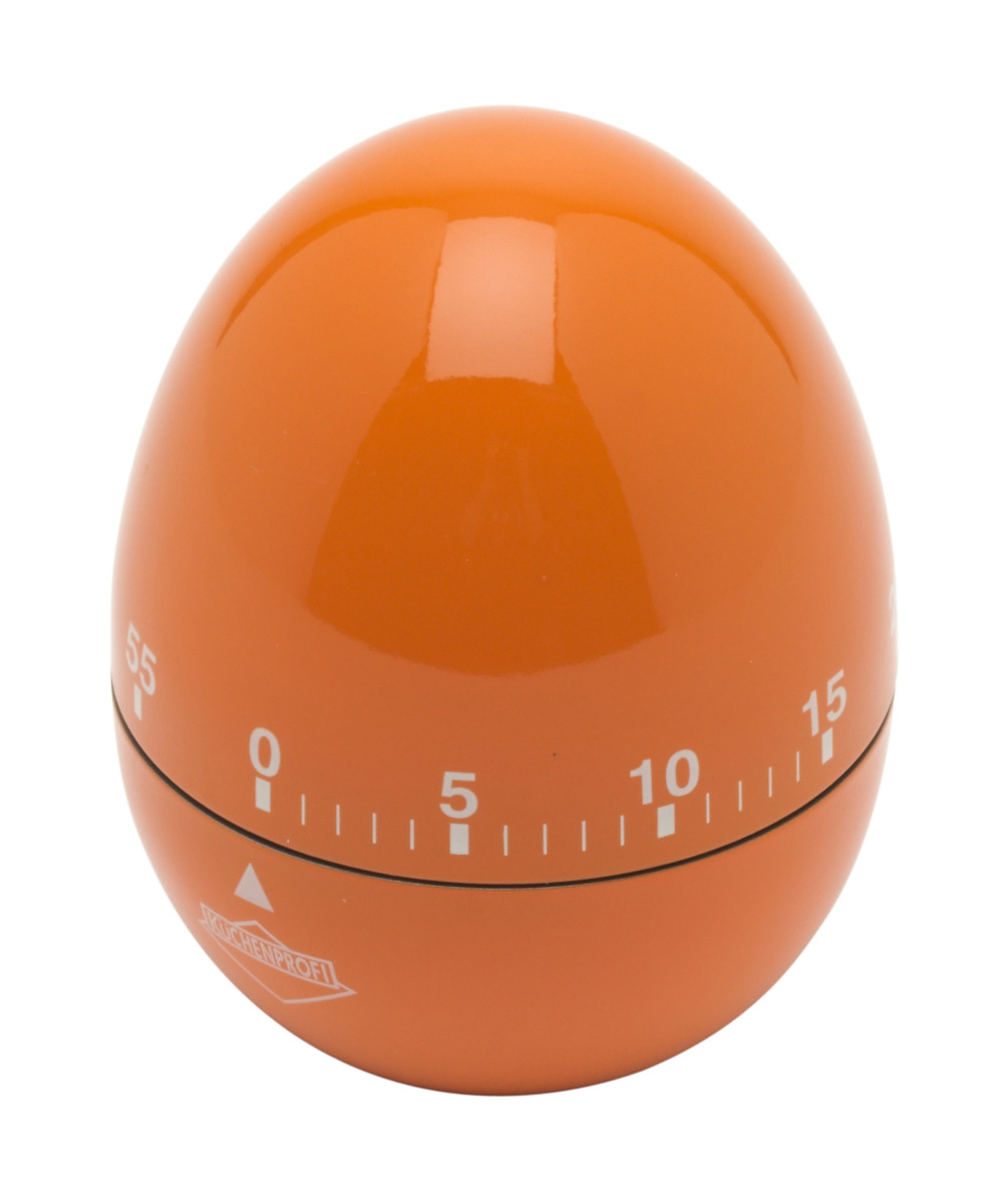 Küchenprofi kookwekker eivormig 8 cm rvs oranje