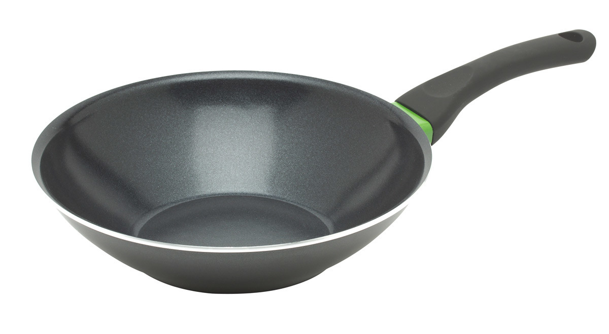 Bioflon Express wokpan ø 30 cm aluminium zwart anti-aanbaklaag