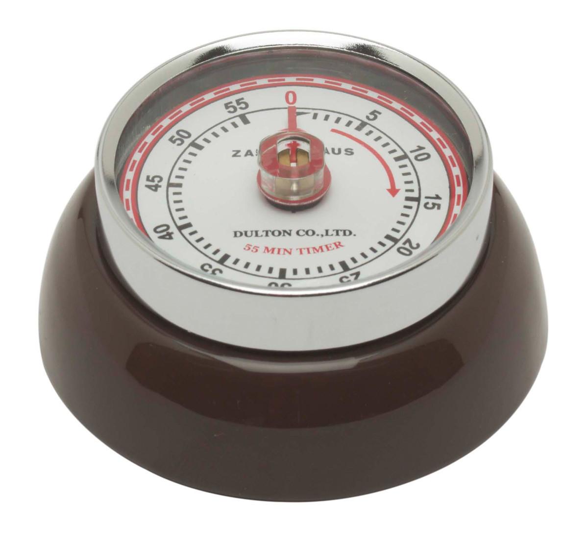 Zassenhaus Timer Speed kookwekker ø 7 cm metaal bruin