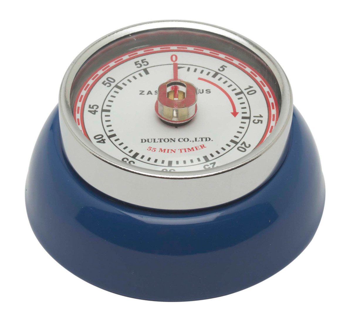 Zassenhaus Timer Speed kookwekker ø 7 cm metaal donkerblauw