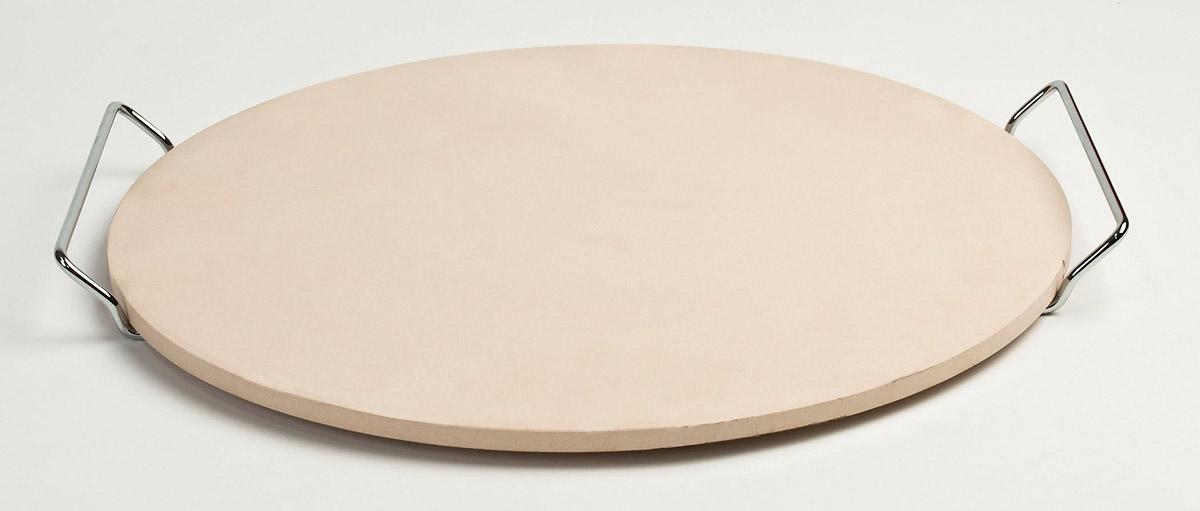 Pizzacraft pizzasteen met rvs houder ø 38 cm keramiek